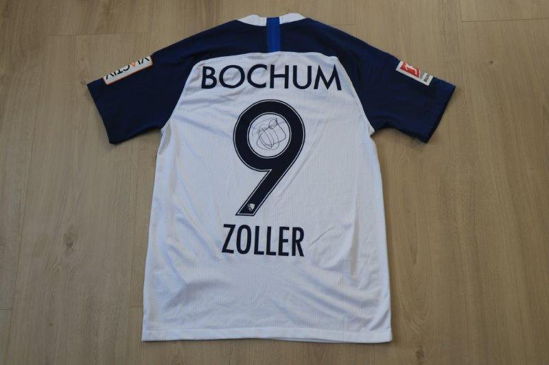 VfL Bochum 2019/20 Heim mit Autogramm, Nr. 9 Zoller (Matchworn  500. Zweitliga Jubiläumsspiel gg. HSV 03.02.20)