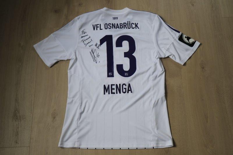 VfL Osnabrück 2015/16 Away signiert, Nr. 13 Menga (Matchworn)