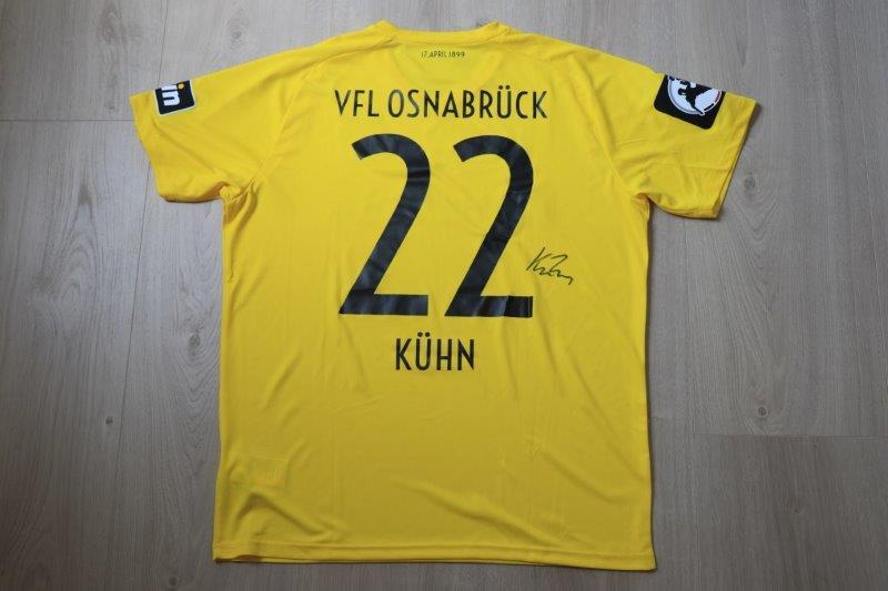 "VfL Osnabrück 2018/19 Sondertorwarttrikot ""120 Jahre VfL Osnabrück"" signiert, Nr. 22 Kühn (Matchvorbereitet gg. Aalen 20.04.19)"