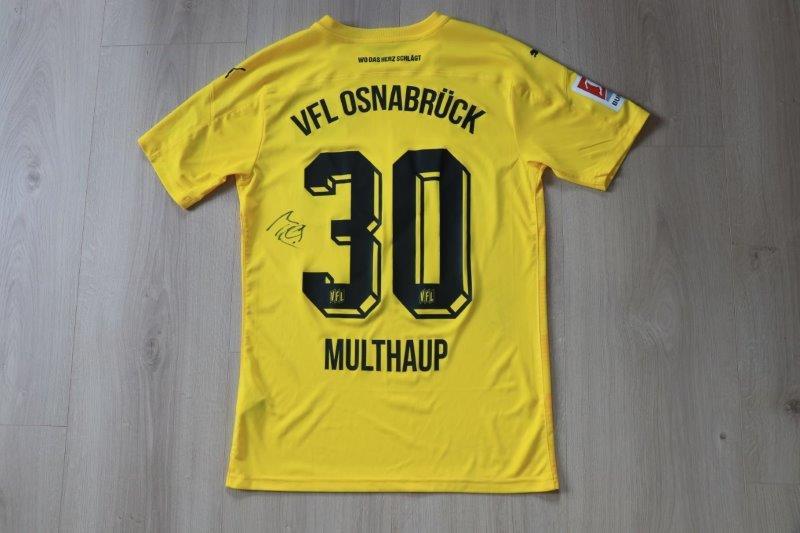 VfL Osnabrück 2020/21 Third signiert, Nr. 30 Multhaup (Matchworn)