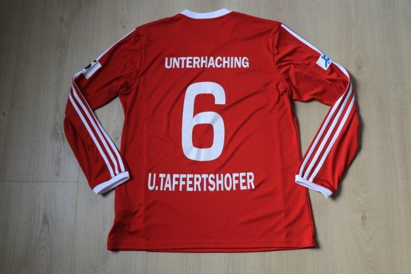 SpVgg Unterhaching 2016/17 Heim, Nr. 6 Taffertshofer (Matchworn)