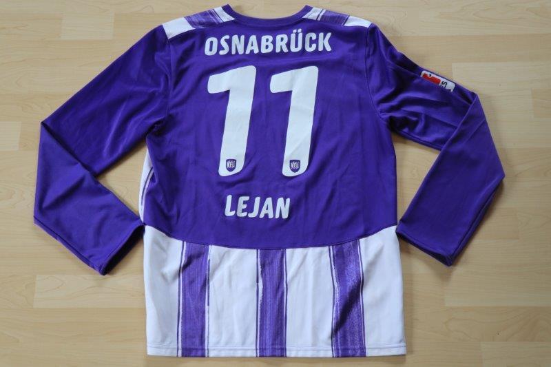 VfL Osnabrück 2010/11 Heim Langarm, Nr. 11 Lejan (Matchworn)