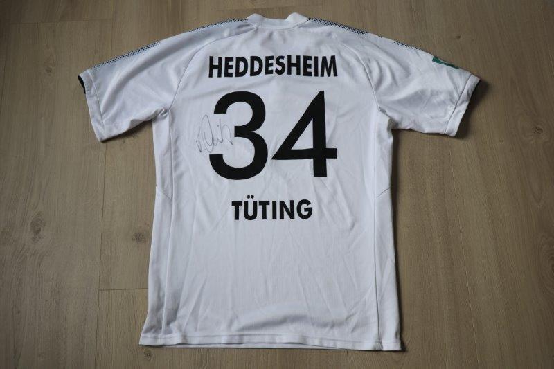 FV Heddesheim 2018/19 Heim mit Autogramm, Nr. 34 Tüting (Matchworn)