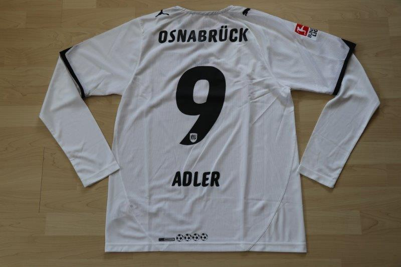 VfL Osnabrück 2010/11 Away Langarm, Nr. 9 Adler (Matchvorbereitet)