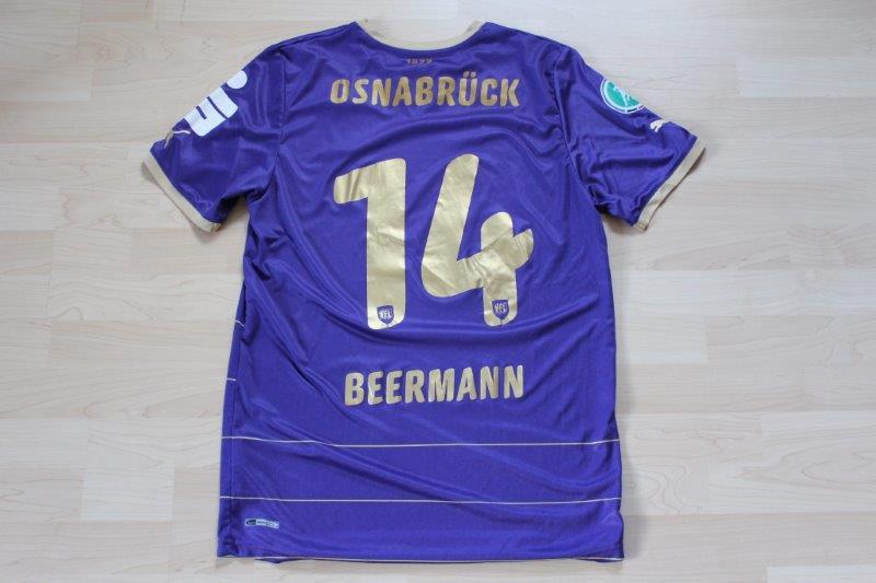 VfL Osnabrück 2001/12 Heim, Nr. 14 Beermann (17.09.2011 - Offenbach) (Matchworn)