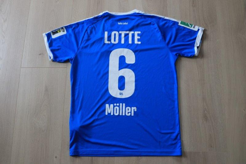 Sportfreunde Lotte 2019/20 Heim, Nr. 6 Möller (Matchworn)