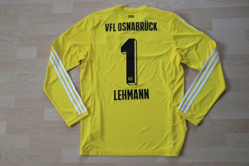 VfL Osnabrück 2016/17 Torwart Gelb Langarm, ohne Sponsor, Nr. 1 Lehmann