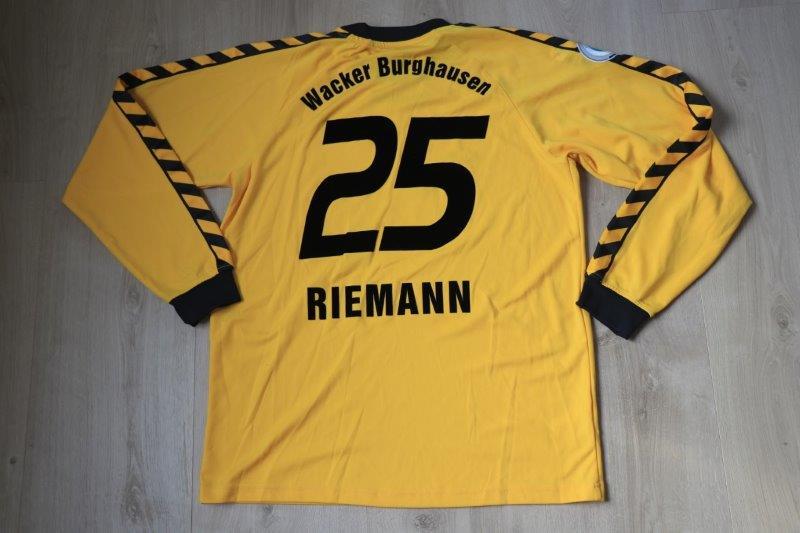 Wacker Burghausen 2007/08 Torwart, Nr. 25 Riemann (Matchworn)