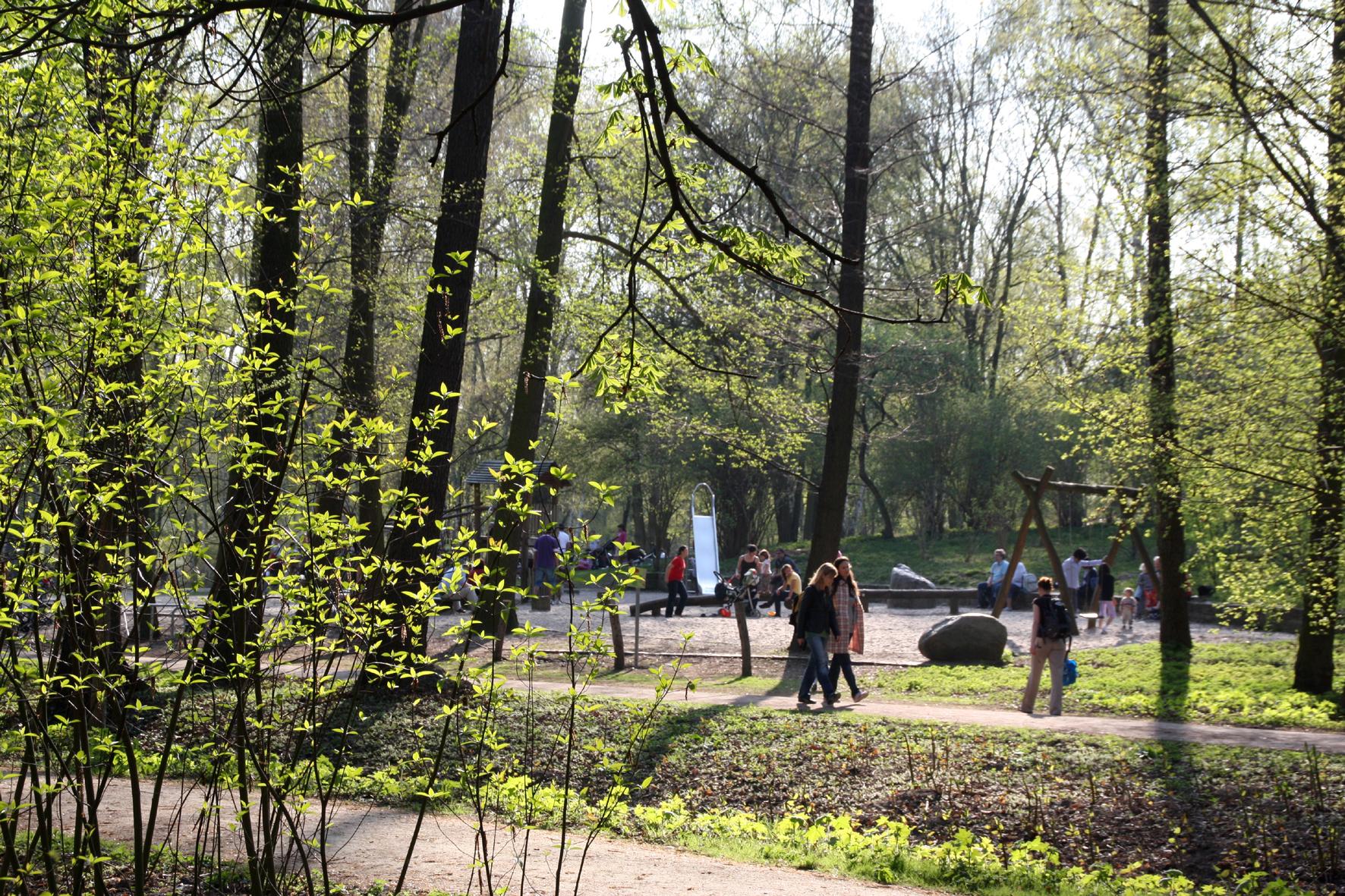 Spielplatz im Schlossgarten Charlottenburg. Foto: Helga Karl