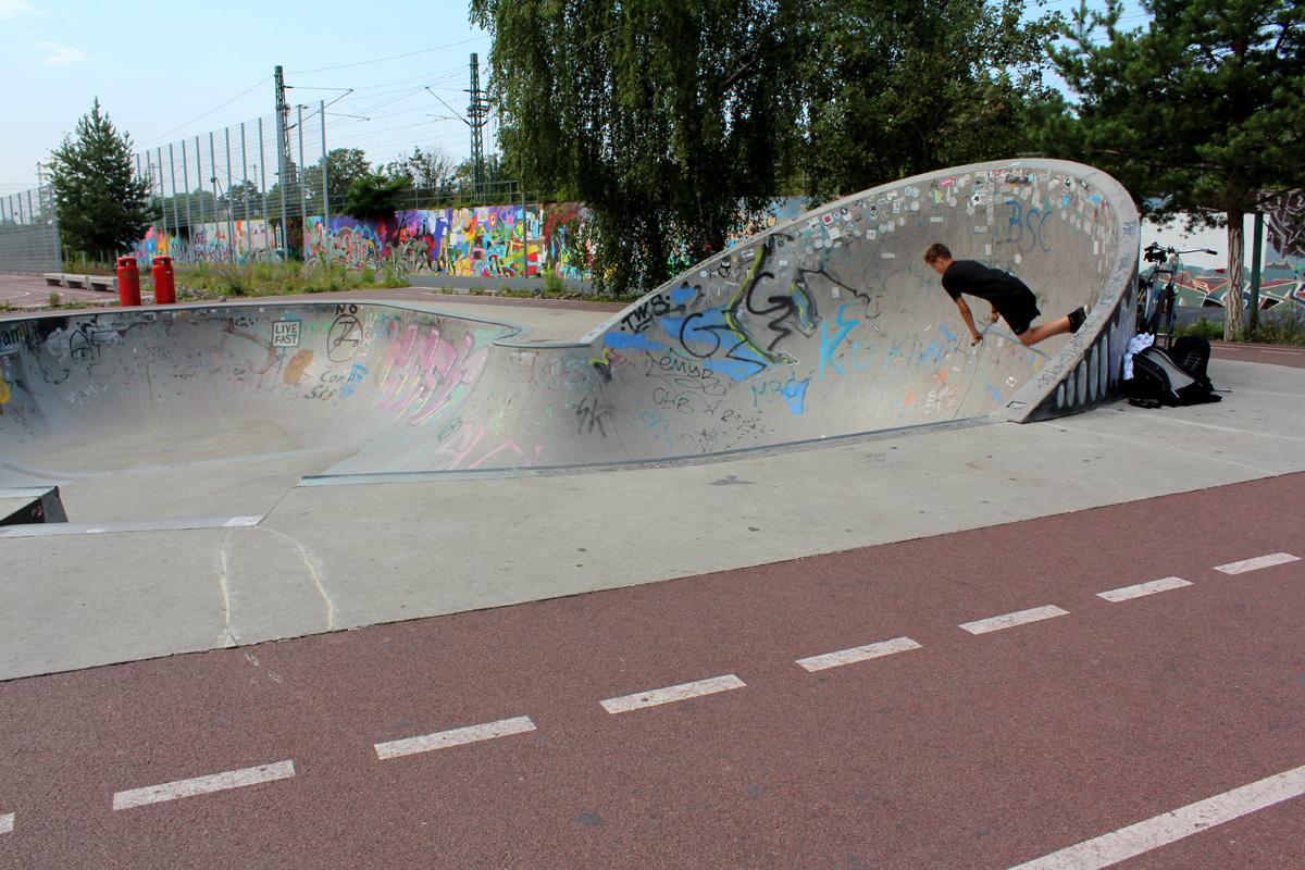 Skateranlage Park am Gleisdreieck. Foto: Helga Karl