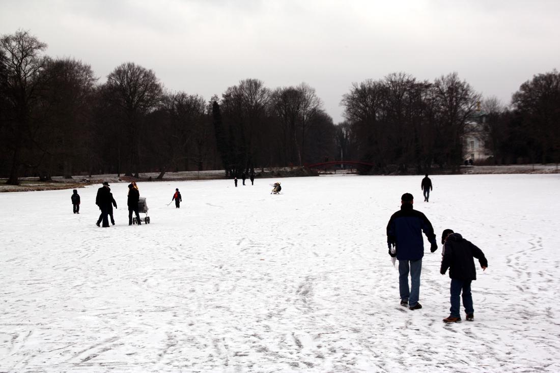 Schlossgarten Charlottenburg im Winter. Foto: Helga Karl