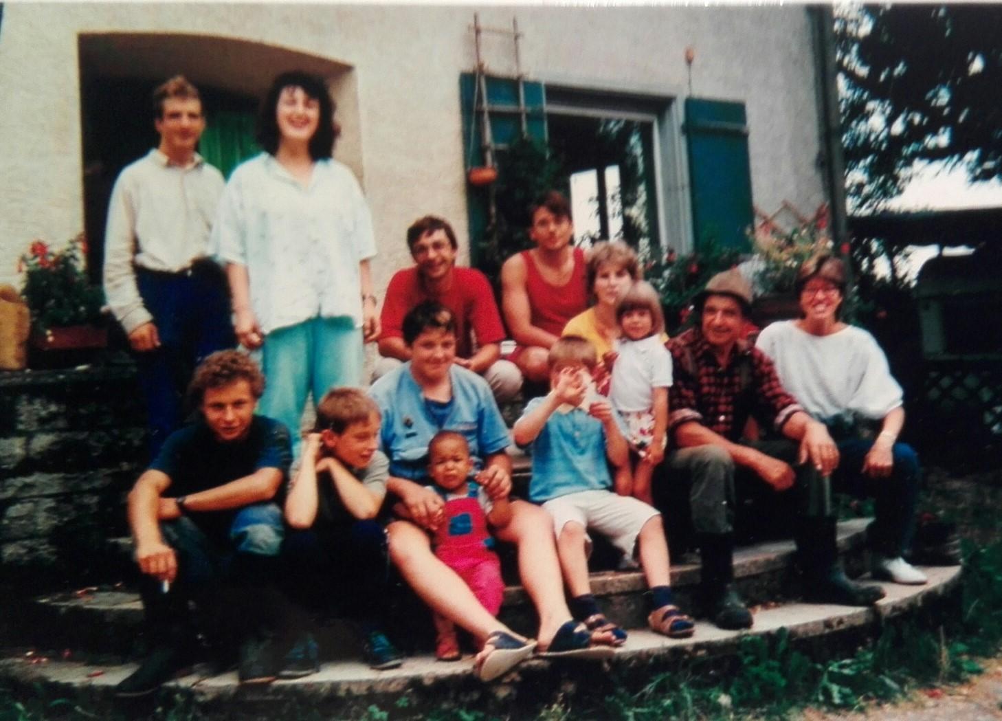 Fam. Rex und Hofbewohner (um 1990)