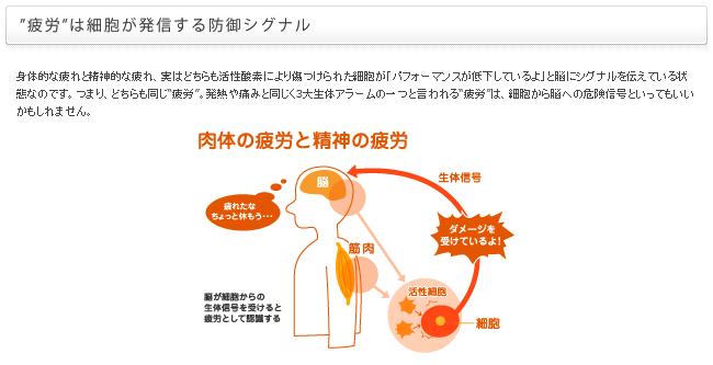 「疲労」は細胞が出すSOS信号です。