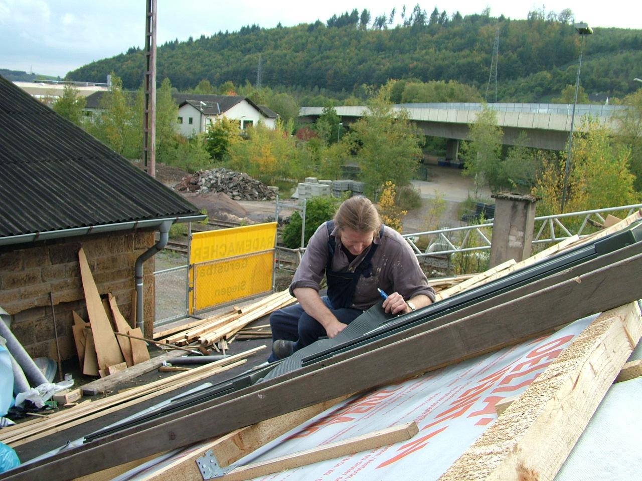 Einbau der Dachfenster
