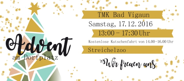 Advent am Dorfplatz - Flyer