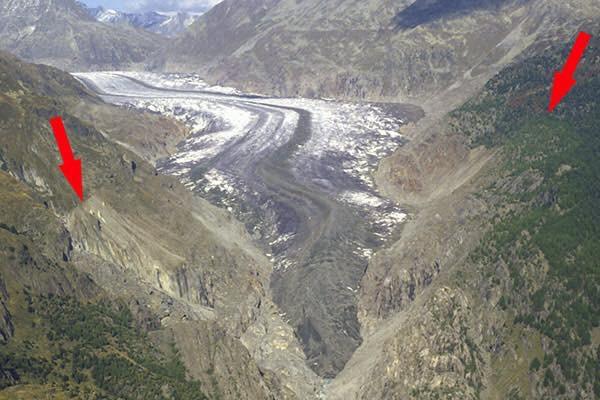 Gletscherzunge um 1900