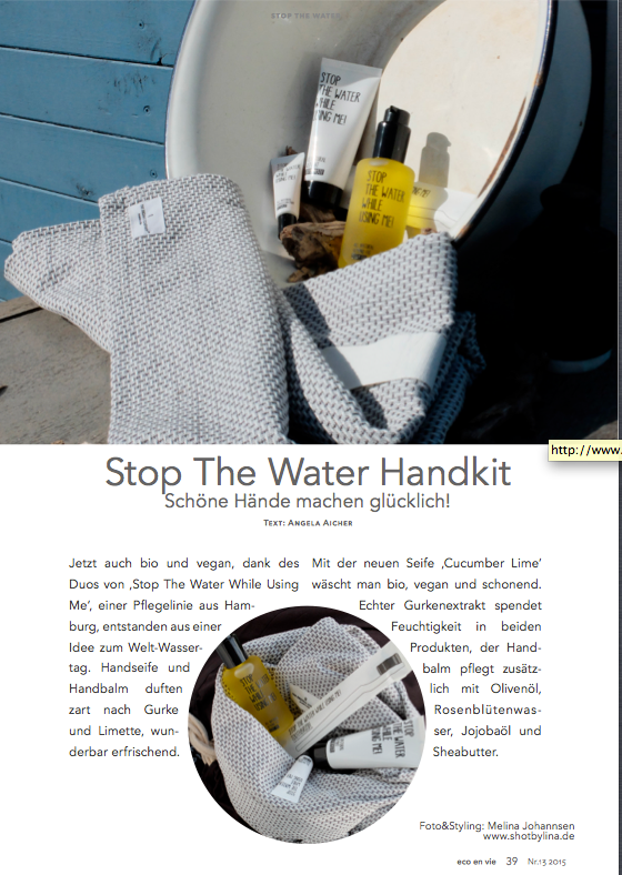 Photo and Set Styling by Melina Johannsen for EcoenVie Magazine with Stop the water while using me, Weleda, I+M, the organic company, saint basics und Rudolf