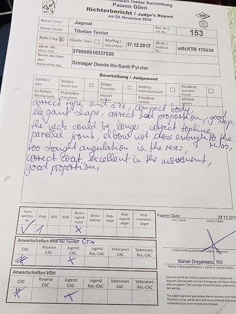 Jugendklasse November Paaren/Glien:  Bericht