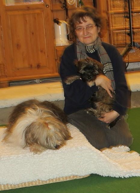 Milka, Femi und Frauchen in der Hundeschule DogFidence - Februar 2014