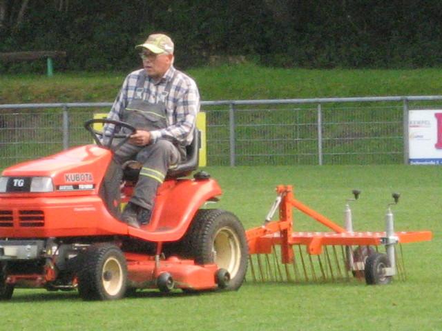 Der Greenkeeper des SV Friedrichweiler