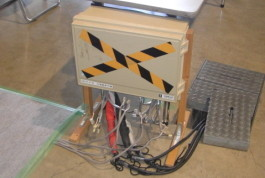 イベントの電気工事例 分電盤