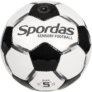 Ballon football sensoriel et sonore Spordas. Ballon pour enfant pour sports et jeux adaptés pas cher discount.