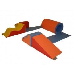 Kit aventure maternelle en mousse enfants Sarneige. Ensemble en kit pour la gymnastique enfants avec le kit aventure maternelle, matériel de modules en kit et en mousse enfants Sarneige à acheter pas cher.