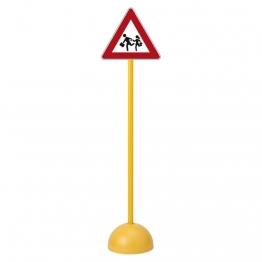 Panneau routier endroit fréquenté par des enfants pas cher