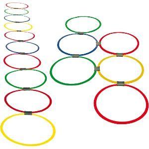 Cerceaux de rythme pour des jeux sportifs et de préparation physique