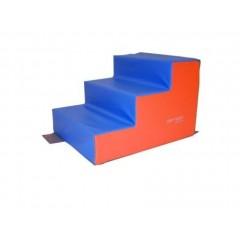 Escalier 3 marches en mousse de motricité Sarneige pour enfants de maternelle. Escalier 3 marches, matériel de modules en mousse enfants Sarneige à acheter pas cher.