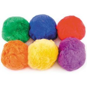 Balles en coton multicolorées