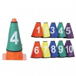 10 cols de cônes numérotés de 1 à 10