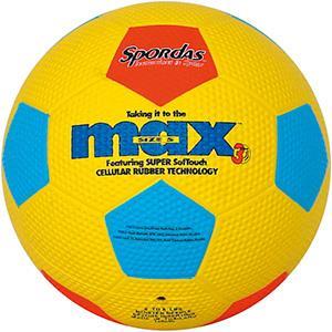 Ballon Spordas de football en caoutchouc pour les enfants. Ballons multicolores au meilleur prix!