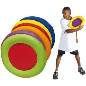 Disques volants à lancer en mousse pour les enfants des écoles, centres de loisirs. Matériel de disque volant en mousse à acheter pas cher.