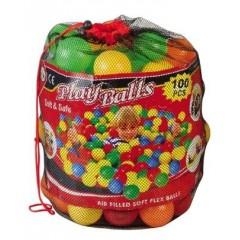 Balles pour emplissage de piscine enfants en mousse. Lot de 100 balles de diamètre 6,5 cm. Dimensions : Ø 6,5 cm avec des balles multicolores pour remplir la piscine enfant mousse. Lot de balles de piscine à acheter pas cher.