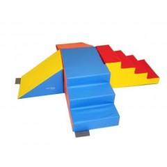 Kit carrefour en mousse pour les jeux de gymnastique d'enfants en maternelle pas cher.