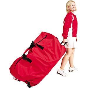 Méga sac à ballons sur roulettes, matériel de rangement de ballons de sport de foot, volley, basket-ball, handball...