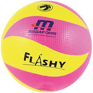 Ballon de volley-ball en caoutchouc pour enfants flashy rose et jaune
