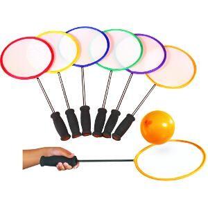 Raquettes de Badminton initiation à acheter pas cher. Lot de 6 raquettes de badminton d'initiation des enfants.
