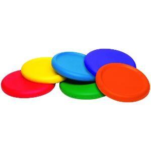Disques volants en mousse pour les enfants pour jeux avec but de disque volant. Matériel de jeu de 6 disques volants en mousse à acheter pas cher.