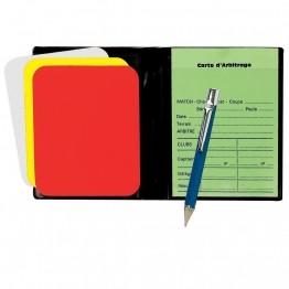 Mini kit ou set pour arbitre : cartons, stylo, fiches d'arbitrage