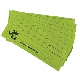 100 cartons de balisage pour course d'orientation