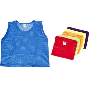 Chasuble handball pour enfants et adultes pas cher. En synthétique. Couleurs bleu, rouge, jaune, violet, orange