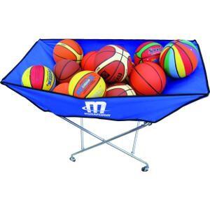 Panier à ballons, matériel de rangement de ballons de sport de foot, volley, basket-ball, handball...