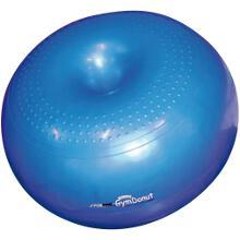 Ballon gym-donut de fitness à acheter pas cher. Ballon bleu en forme de donut pour plus de stabilité et de confort pour exercices de fitness.