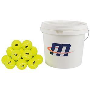 Seau de 48 balles de tennis pour les enfants. Prix pas cher.
