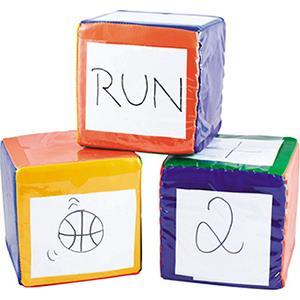 3 cubes géants enfants pour écrire dessus à acheter pas cher. Cubes à personnaliser pour tous les enfants.
