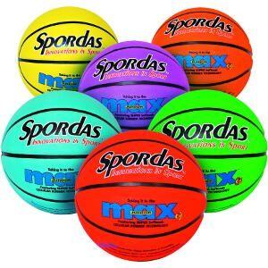 Lot de 6 ballons de basket Spordas