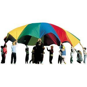 Jeu du parachute traditionnel  à acheter pas cher. Jeu coopératif du parachute.