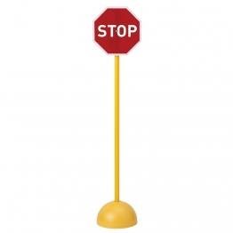 Panneau de signalisation routière stop pour vélos enfants scolaires.